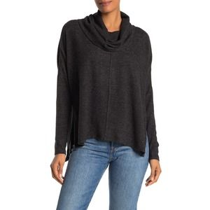 Status by Chenault Seam Front Cowl Neck Knit Top M